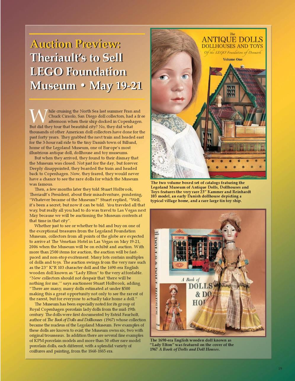 Theriault's to Sell LEGO Foundation Museum • May 19-21