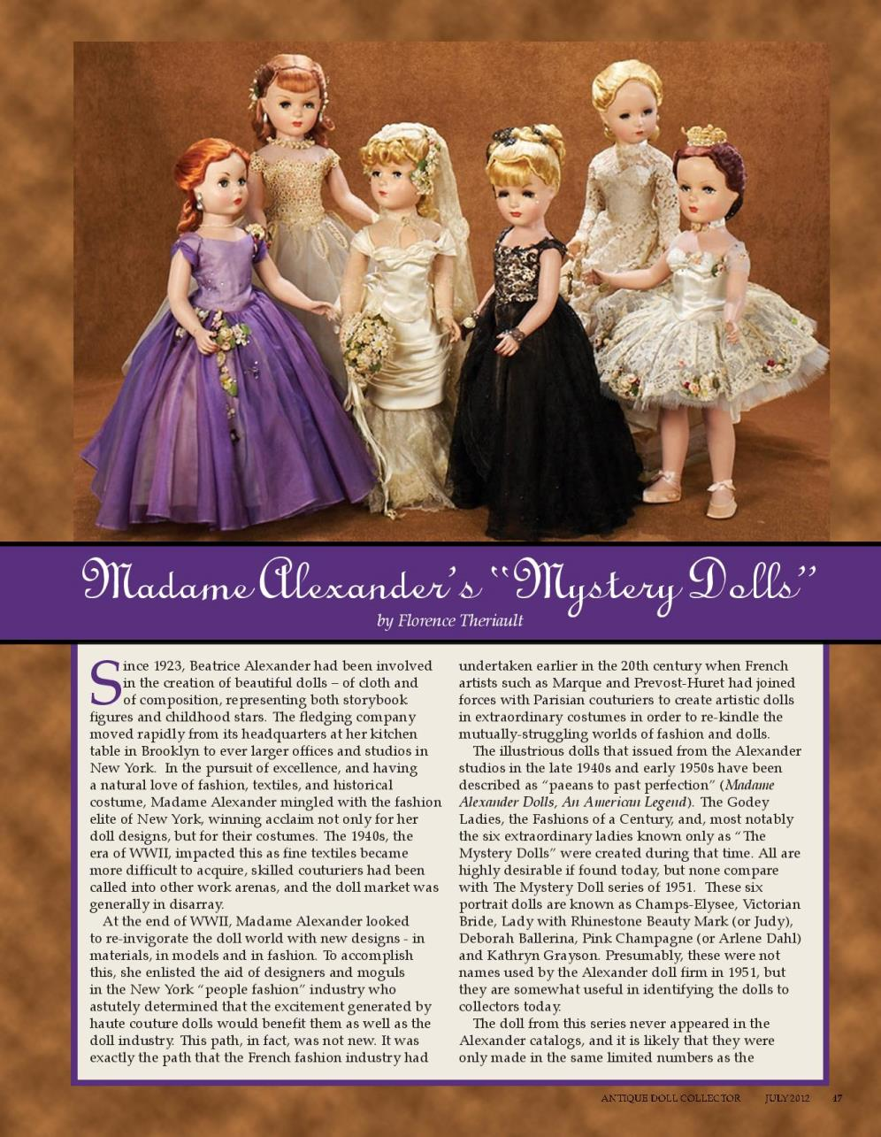 "Madame Alexander's ""Mystery Dolls"""