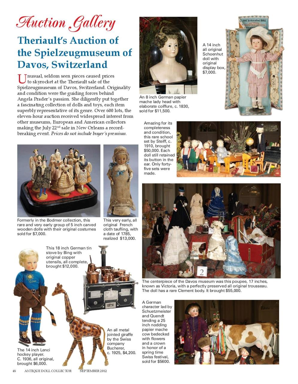 Theriault's Auction of the Spielzeugmuseum of Davos, Switzerland