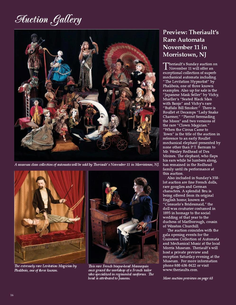 Preview: Theriault's Rare Automata November 11 in Morristown, NJ