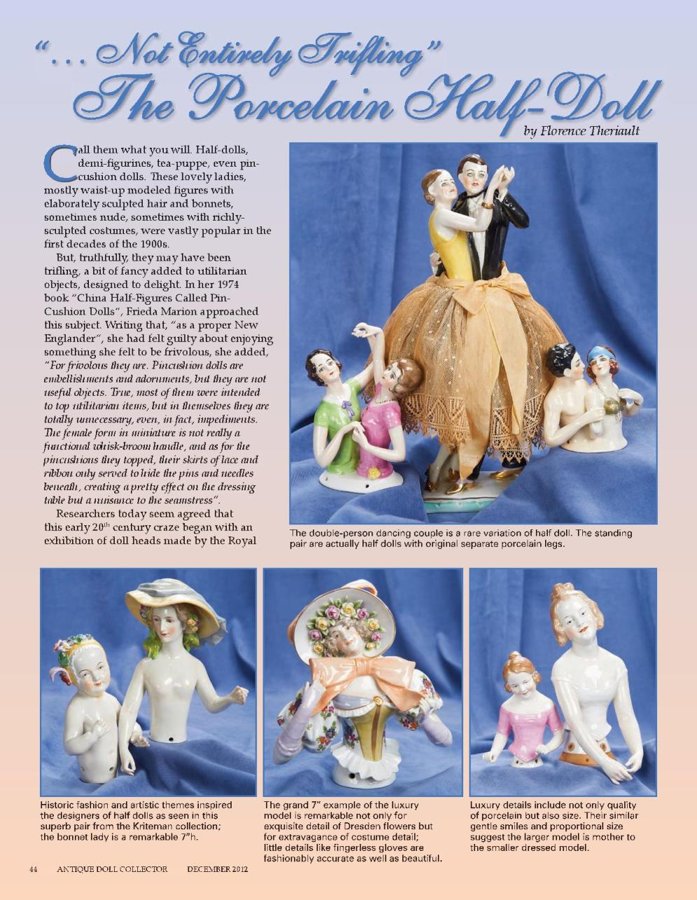 """""""… Not Entirely Trifling"""" The Porcelain Half-Doll"""