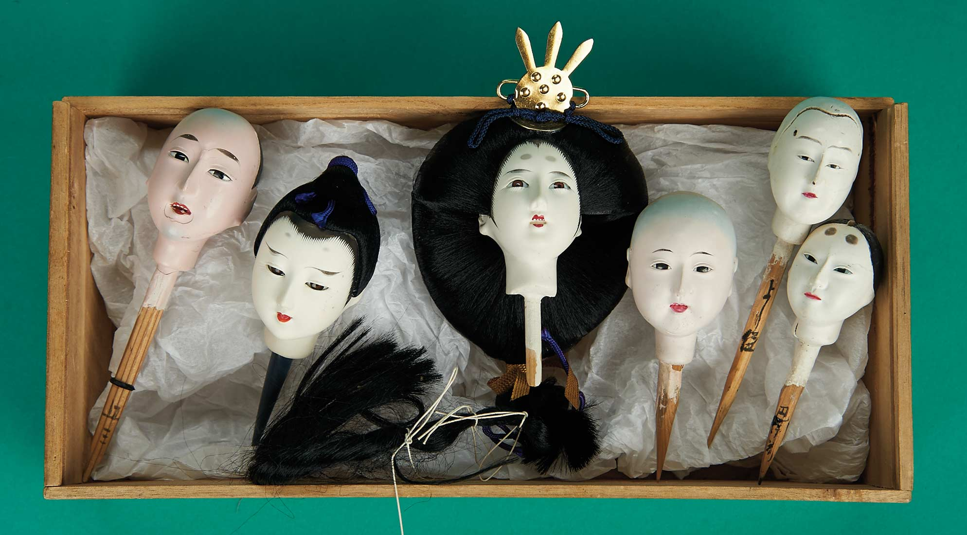 The Carabet Collection Of Antique Japanese Dolls 173 Six Carved