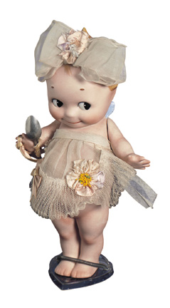 Quiet Footsteps 79 German All Bisque Kewpie