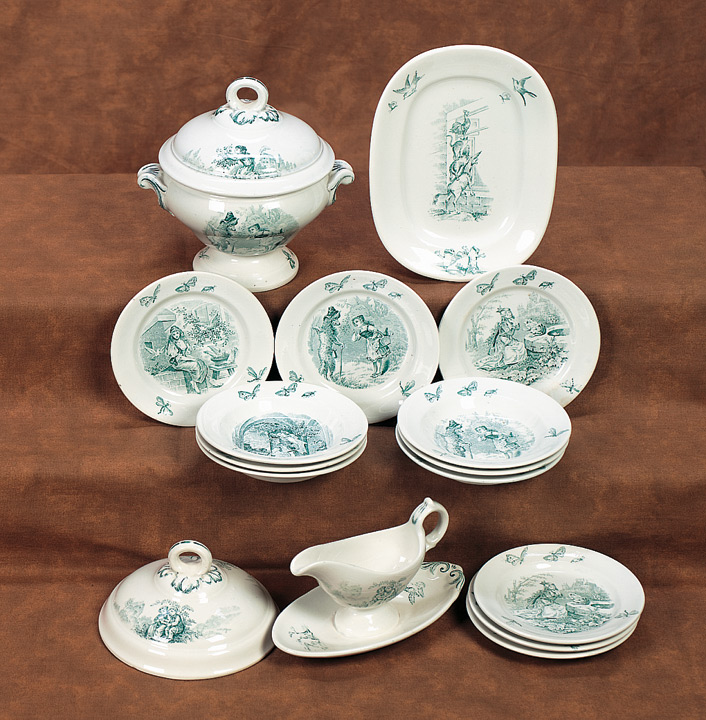Child\u0027s German Soft Paste Dinnerware with Fairy Tale Themes & Antique Dolls and Toys of LEGO - Session 2: 598 Child\u0027s German Soft ...