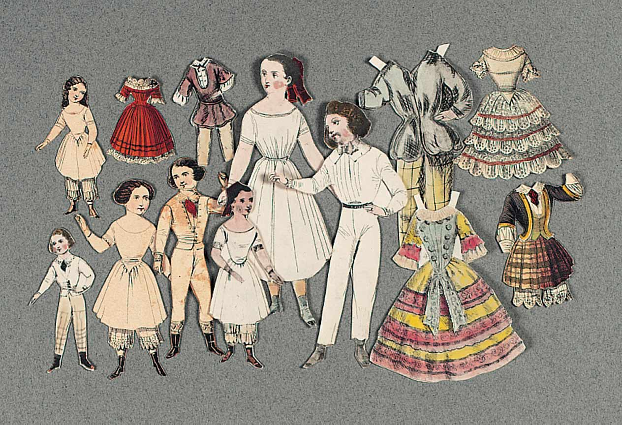 Victorian fashion paper dolls 96
