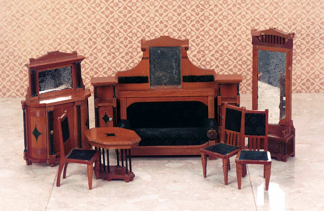 furniture art deco style. Rare German Wooden Furniture Set In The Art Deco Style