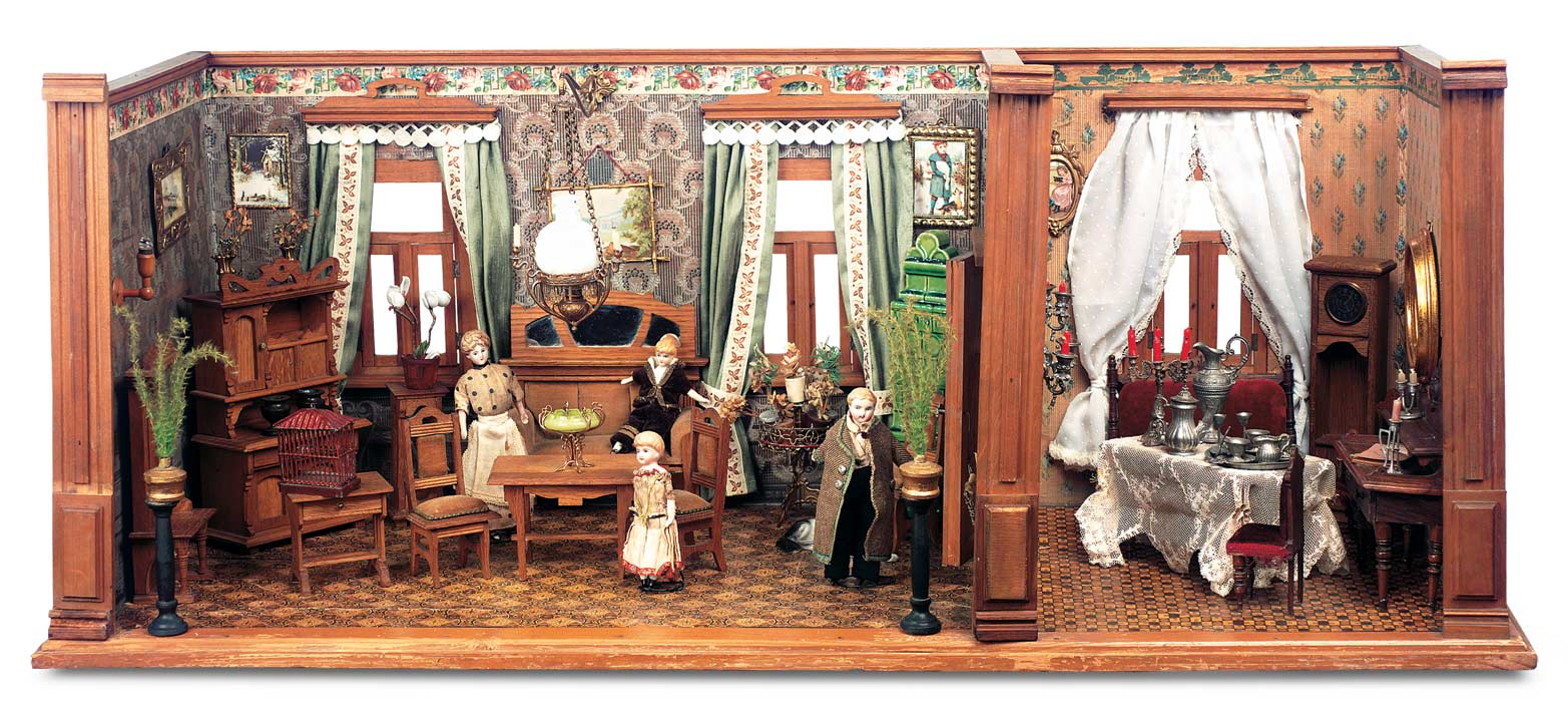 The Boys Collection 39 German Wooden Dollhouse Rooms By