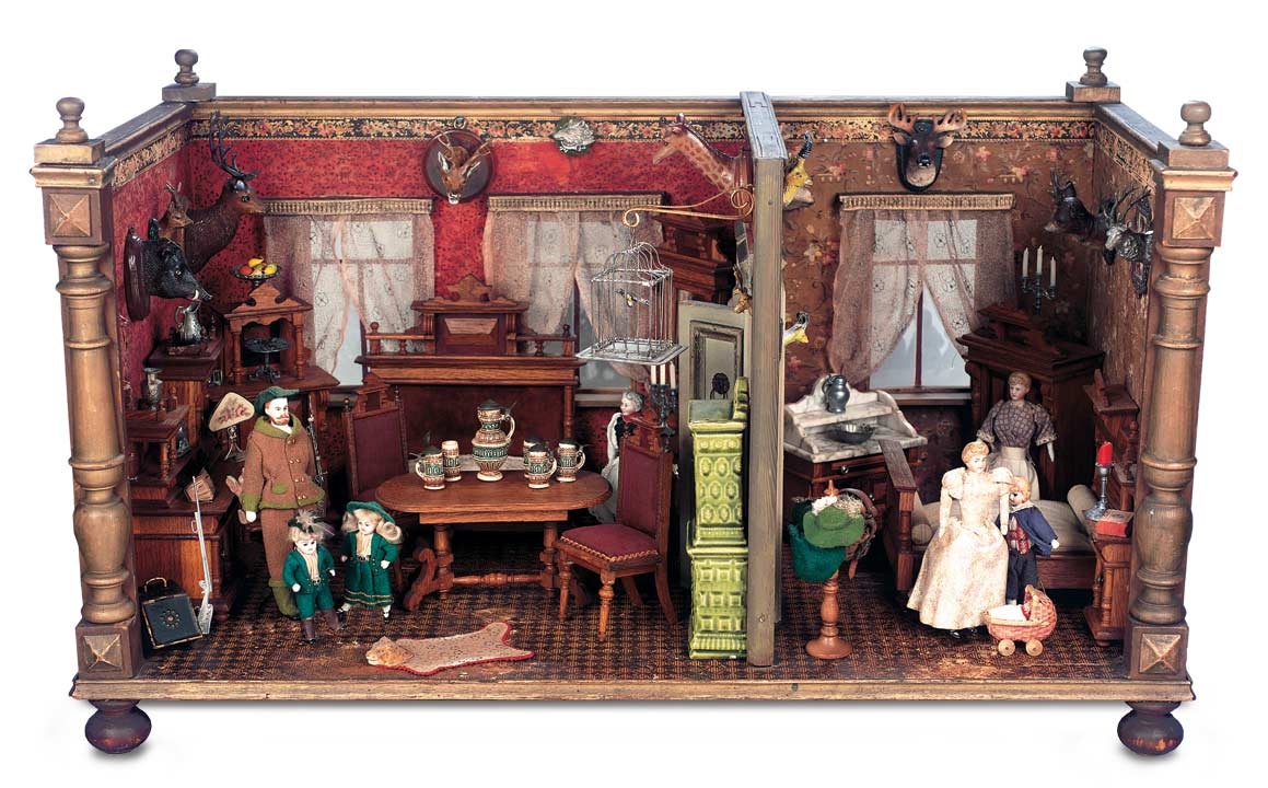 German Wooden Doll House - The Boys' Collection: 105 German Wooden Doll House