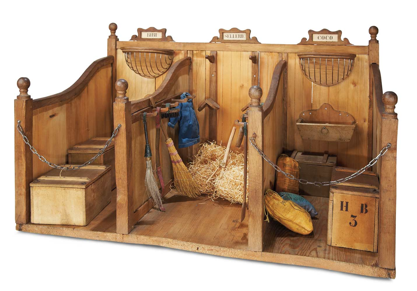The Legendary Spielzeug Museum Of Davos 311 Wonderful French Wooden Toy Stable For