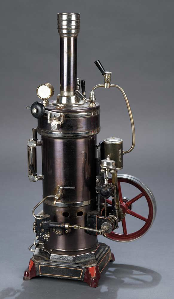 The Legendary Spielzeug Museum Of Davos  598 Early German Vertical Steam Engine By Bing