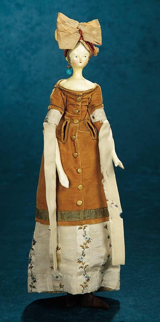 Forever Young 37 Grodnertal Wooden Doll In Original