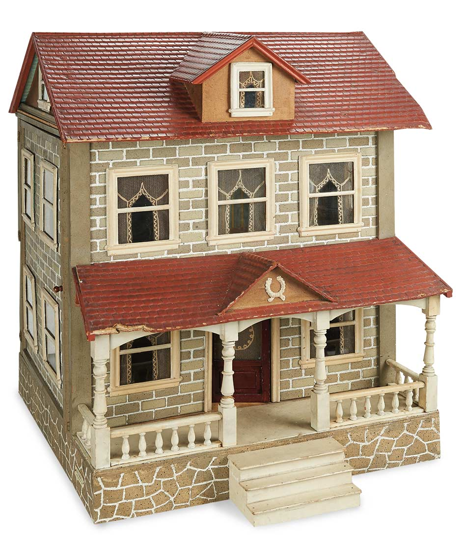 Sanctuary 177 American Wooden Dollhouse By Schoenhut With