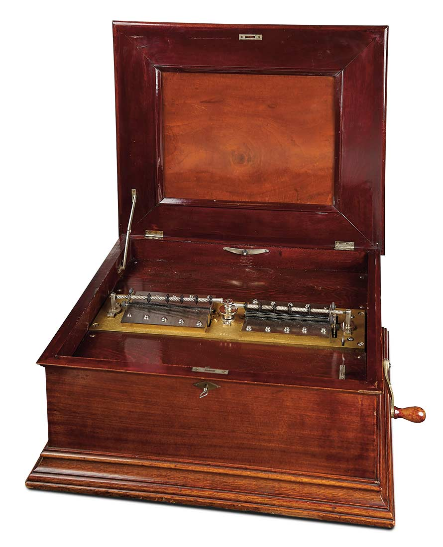 music box disc antique rare century swiss boxes extremely american polyphon open lot dolls automata soiree marquis