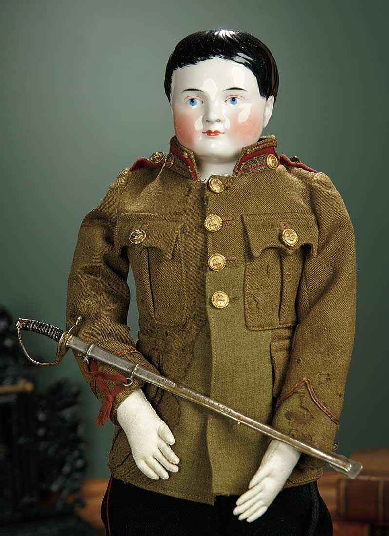 For The Love Of The Ladies 216 German Porcelain Gentleman Doll In Uniform With Sword