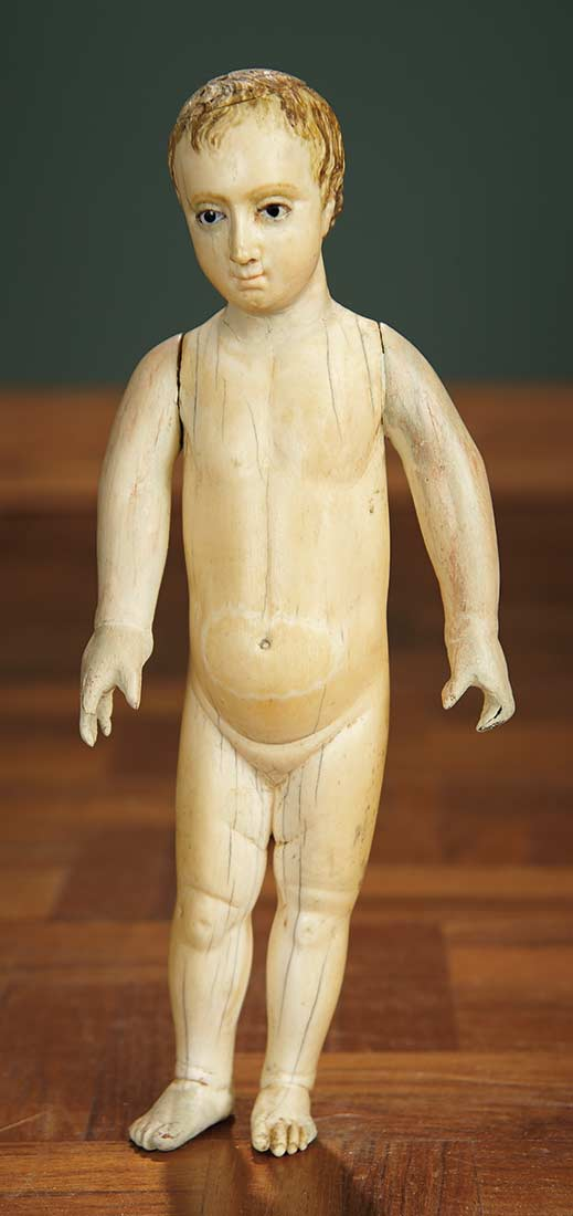 For The Love Of The Ladies 417 Early Carved Bone Doll With Articulated Arms