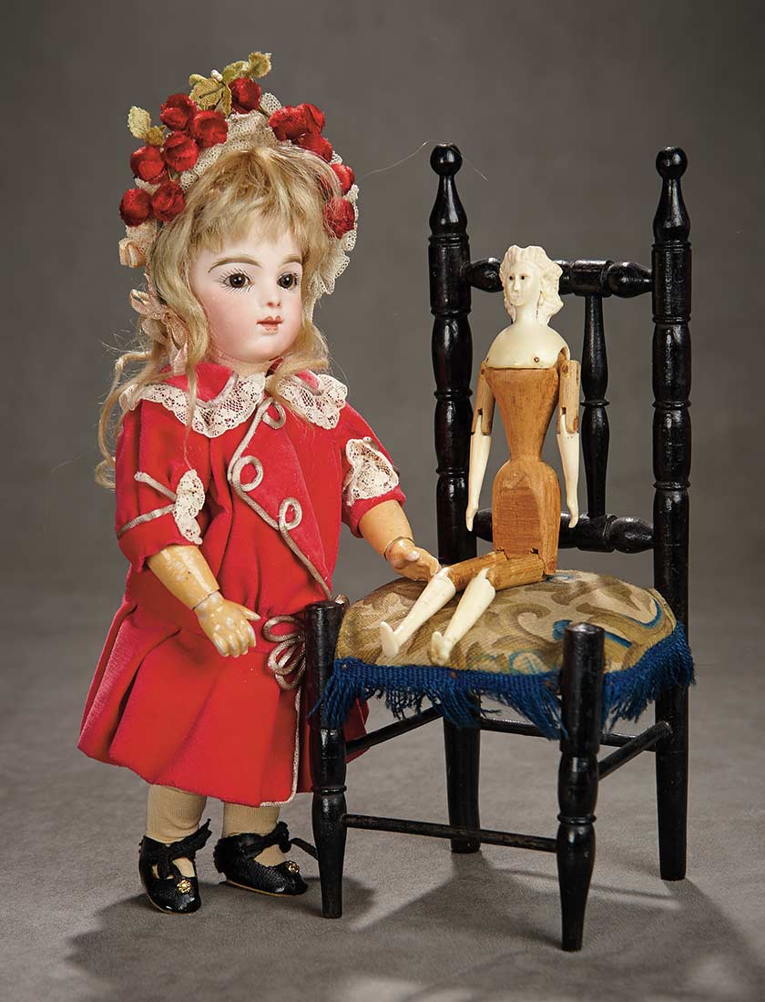 A Time For Gratitude 216 Rare Carved Bone And Wooden Dollhouse Doll