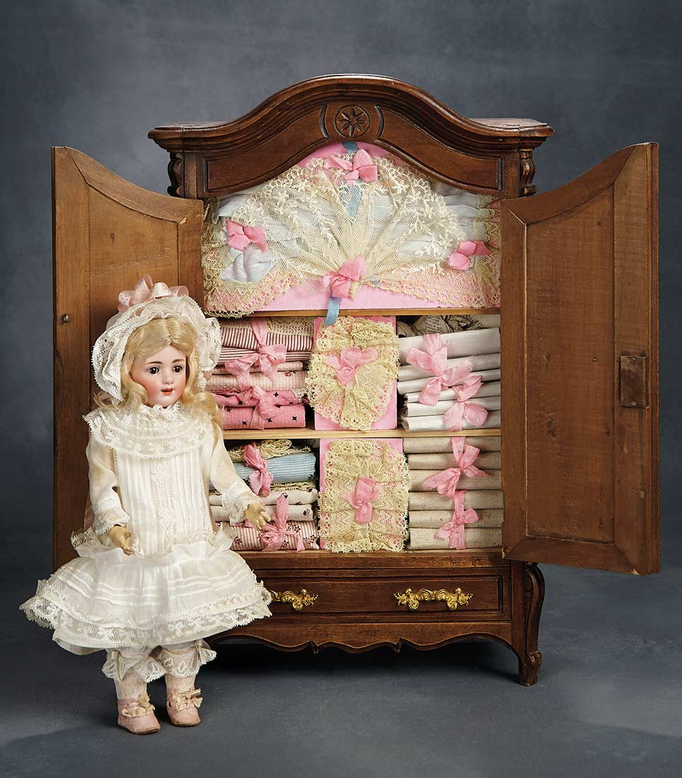 The voyage continues french wooden doll s armoire with