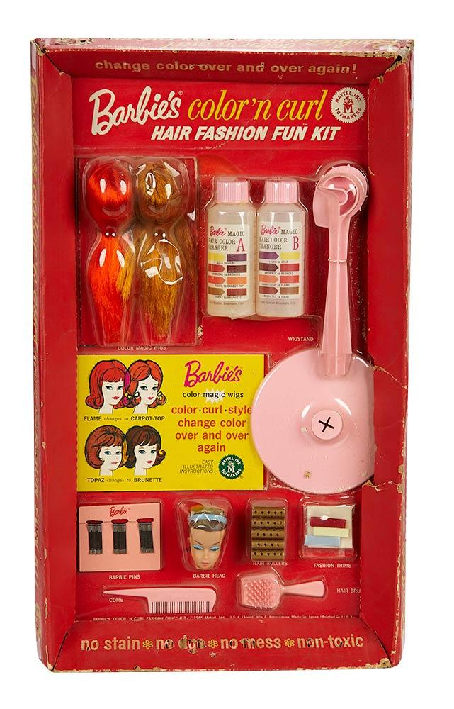 Barbie Fifteen Golden Years 1958 1973 99 Barbie S Color N Curl Hair Fashion Fun Kit