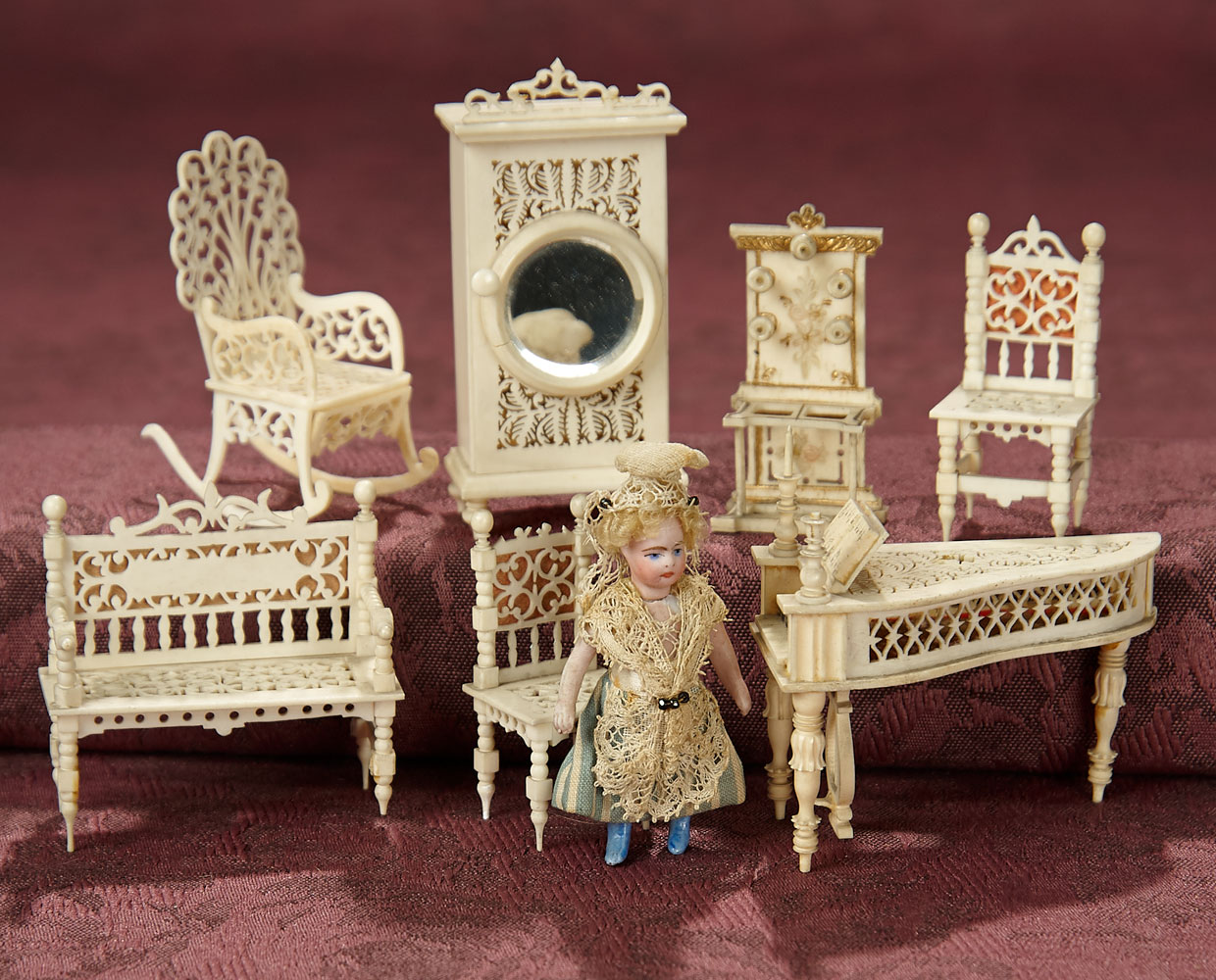 Other Kinds Of Roses Different Ways To Dance 98 Collection Of Tiny Carved Bone Miniature Furnishings And All Bisque Doll