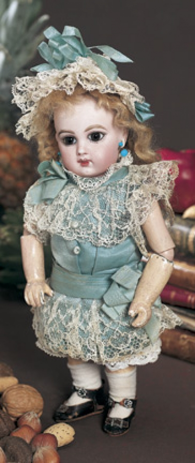 A Whispering Of Dolls 10 Brown Eyed French Bisque Bebe