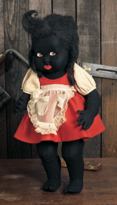 my life as a doll  186 italian black felt character doll by lenci from 500 series