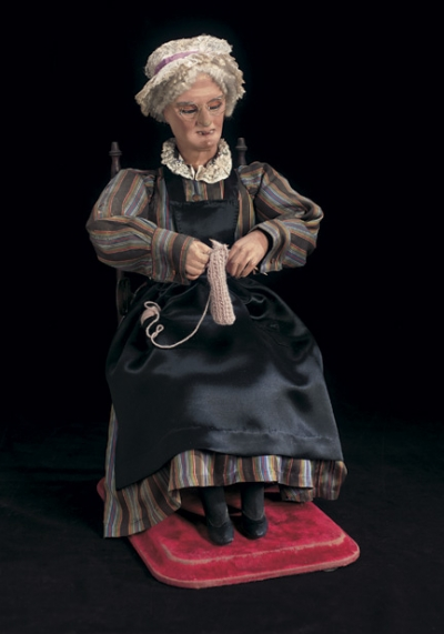 Grandma Knitting Spaghetti : The golden age of automata grandmother knitting by