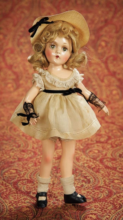 Home At Last Antique Doll And Dollhouses 342 American Composition Wendy Ann By Madame Alexander In Original Costume