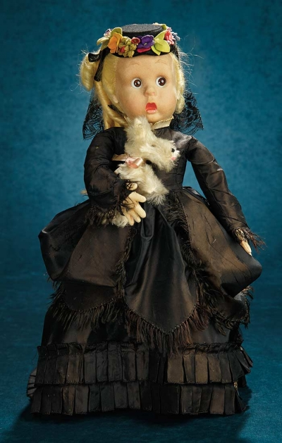 Forever Young 337 Italian Felt Doll With Glass Googly